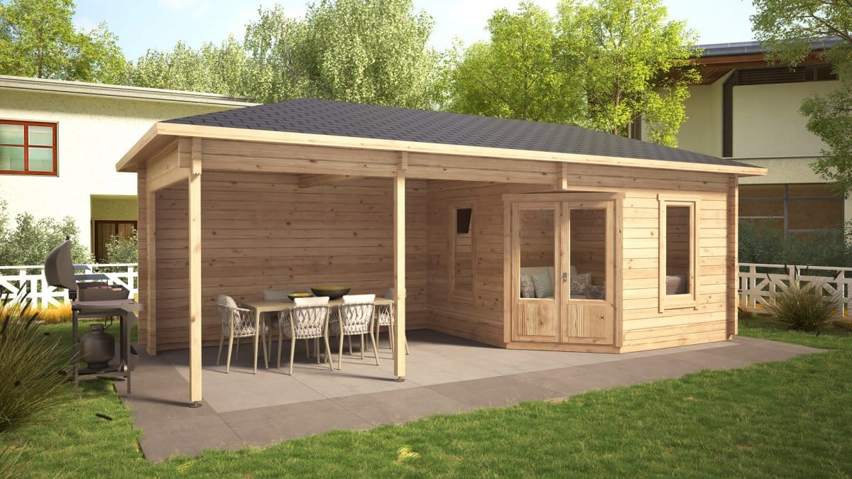 Garden Room Sophia With Veranda 10m² / 44mm / 3,5 X 8 M