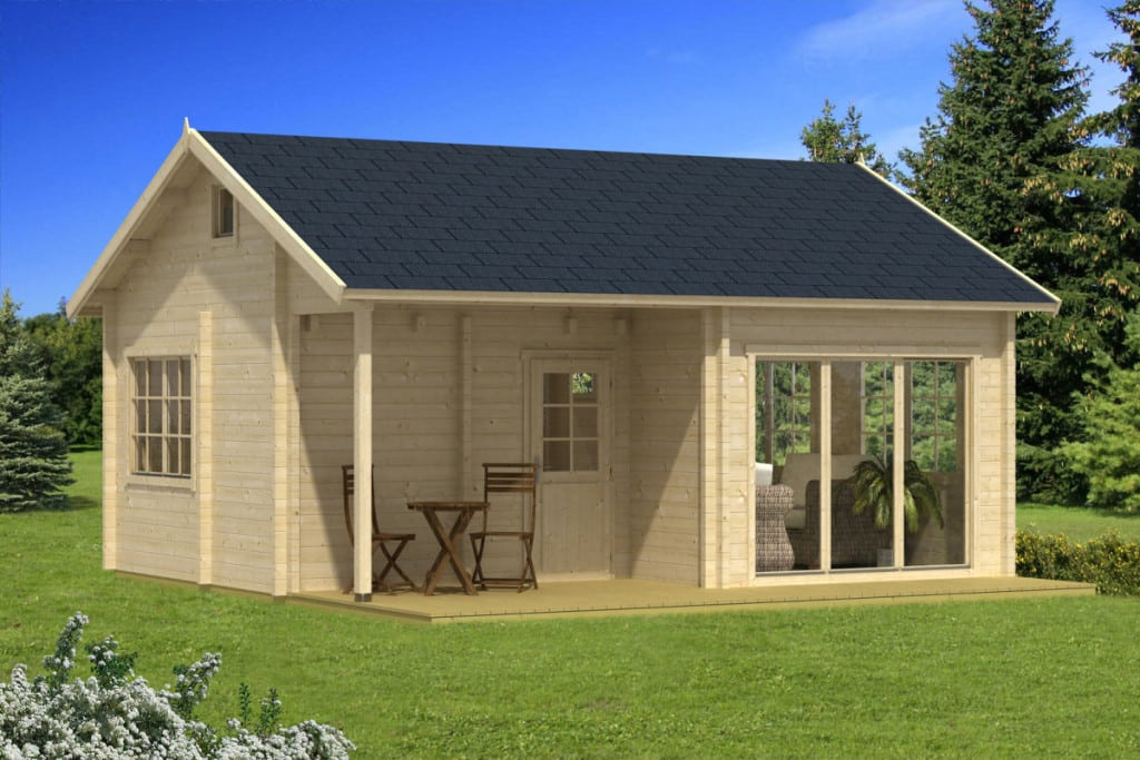 large wooden summer house leeds 30m 70mm 6 5 x 5 5 m summer house 24. Black Bedroom Furniture Sets. Home Design Ideas