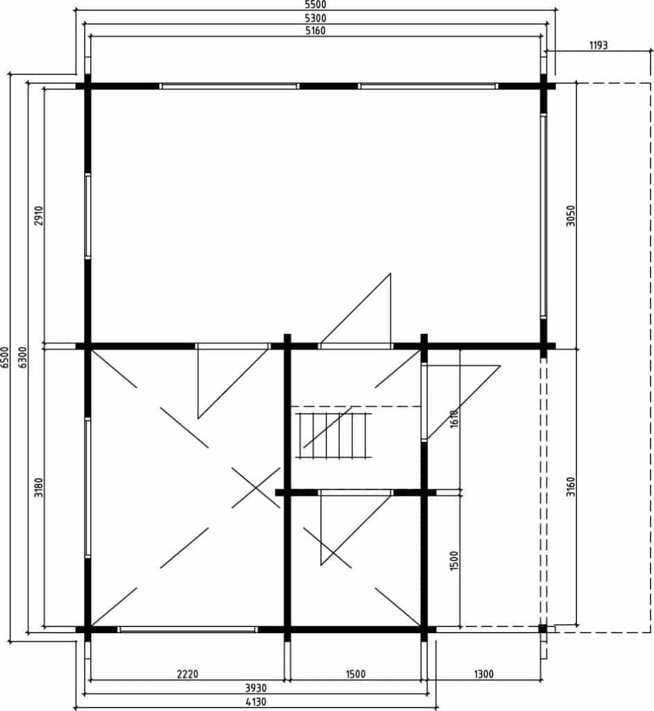 Log cabin Alabama Ground Plan