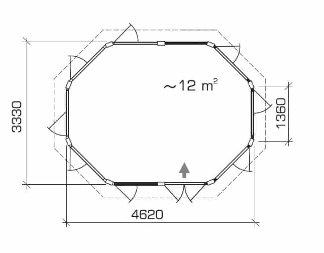 Garden room Albatros ground plan