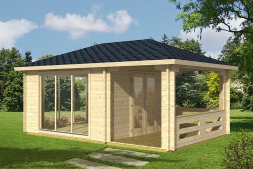 Garden Log Cabin inc Veranda Anette