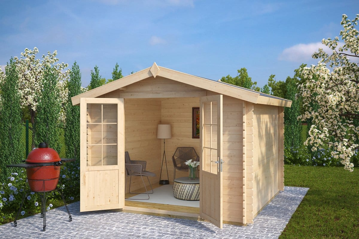 10x10 shed anita xl 8m 28mm 3 x 3 m summer house 24 for Garden shed 10x10