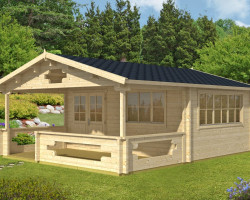 Log Cabin Summer House with veranda Armin