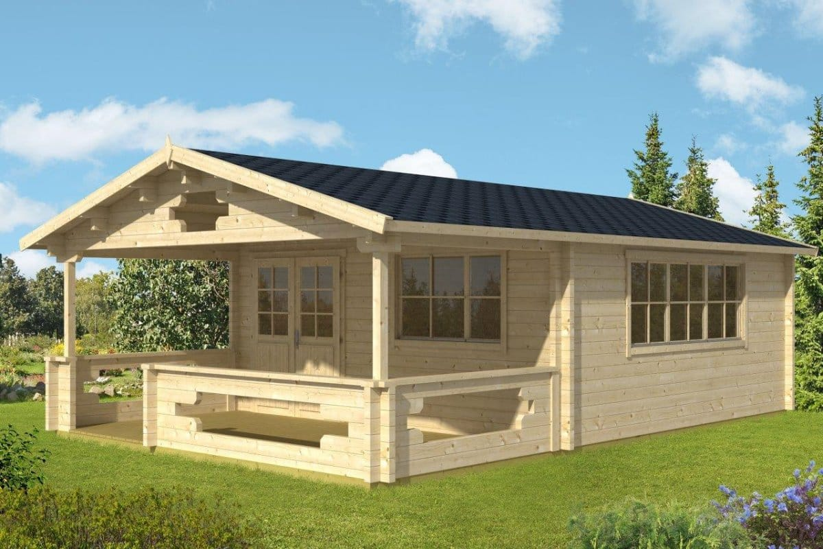 Summer house with veranda armin xl 25m 70mm 5 x 8 m summer house 24 - Nano homes small spaces for big sensations ...