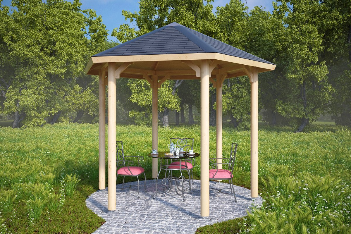 3m x 3m gazebo nicole s 6m summer house 24 for Small garden shelter
