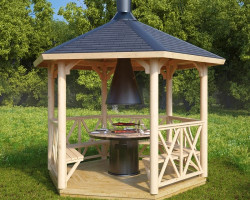 Wooden Grill Gazebo Lotte