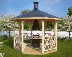 Wooden Grill Pavilion Lotte