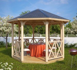 Wooden gazebos and pergolas