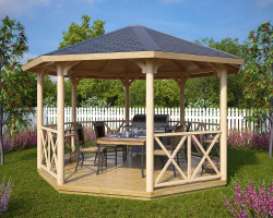 Big Octagonal Canopy Gazebo Lotte