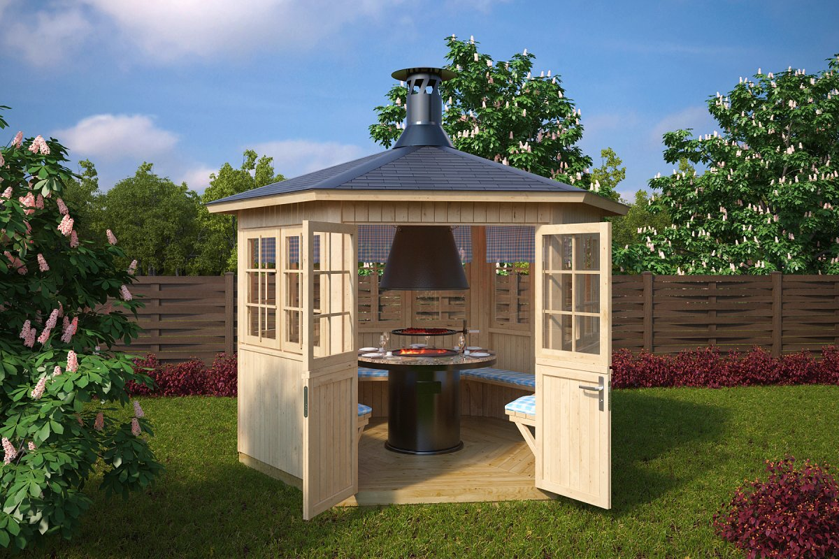 Garden Bbq Hut Festival 6m 178 21mm 3 X 2 6 M Summer