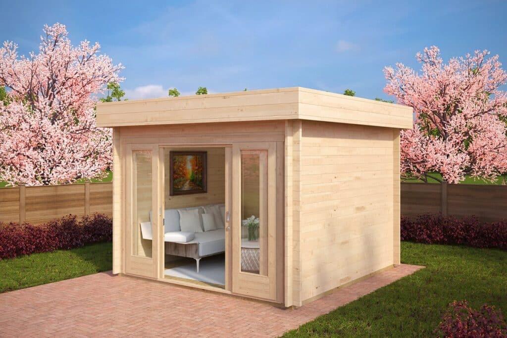 Log Cabins Nora E and Lucas E ground plans