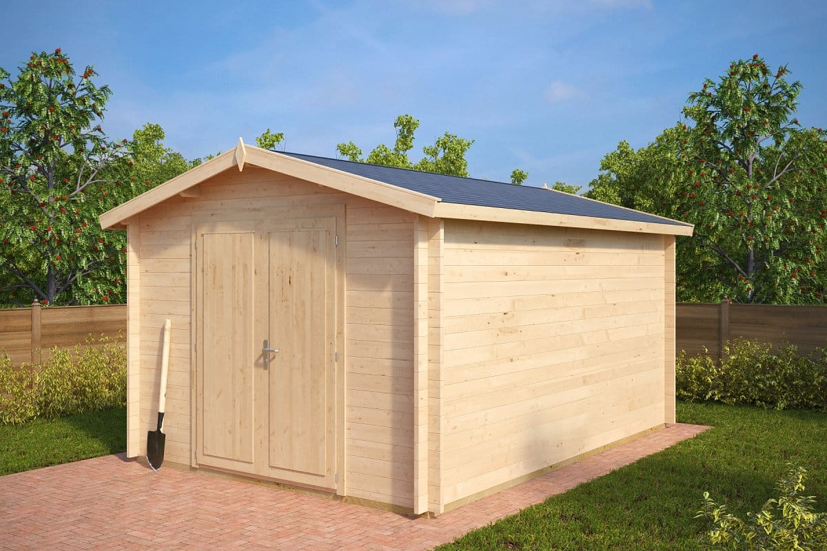 Large garden storage shed eva a 12m 40mm 3 2 x 4 4 m for Garden shed large