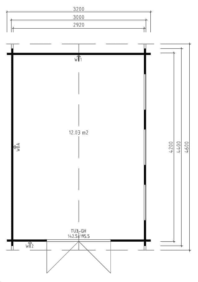 Modern Garden room Eva B groundplan