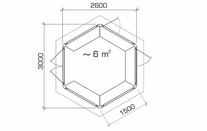 Hexagonal Summerhouse Festival ground plan