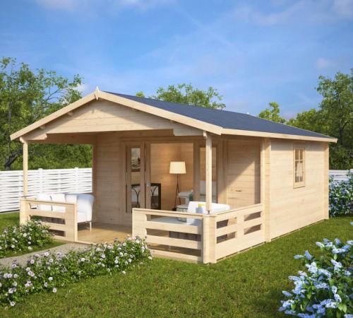 Summer house with veranda franz 15m 44mm 6 x 4 m summer house 24 - Garden summer houses with verandas ...