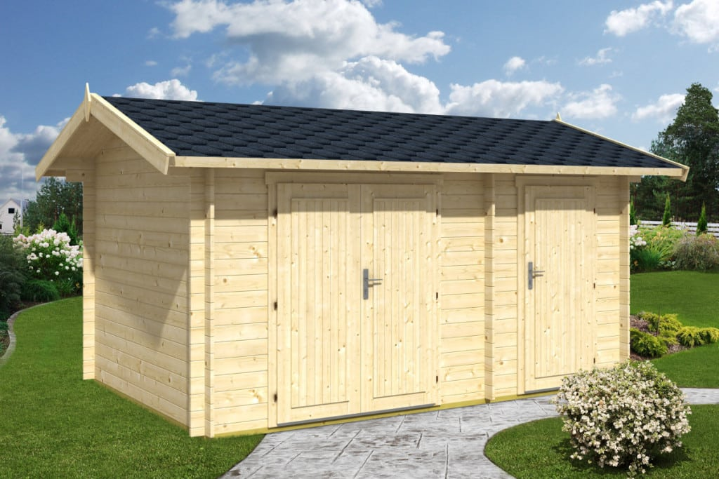 Large garden double shed fred 10m 28mm 4 1 x 3 m for Large garden buildings