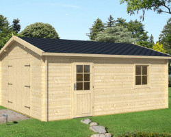 Log Cabin Wooden Garage-B