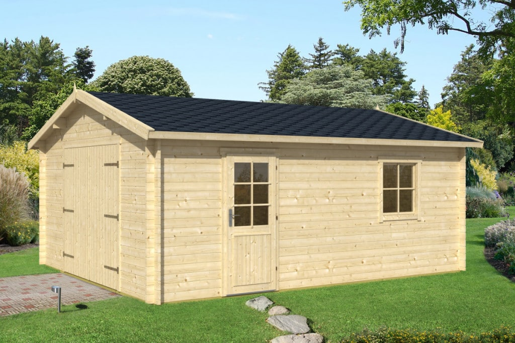 Extra large timber garage type b 24m 40mm 4 7 x 5 7 m for Large garages