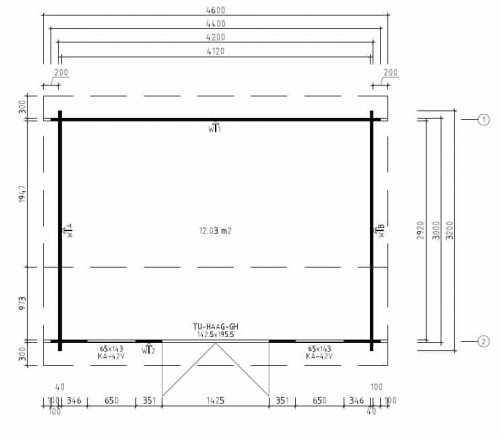 Garden Room Jacob D groundplan