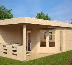 Buy Log Cabins for Gardens Online UK   No Planning Permission RequiredSummer House   Shed Paula   m²   mm     x   m
