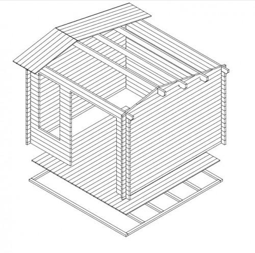 Gartenhaus Nora D 3D
