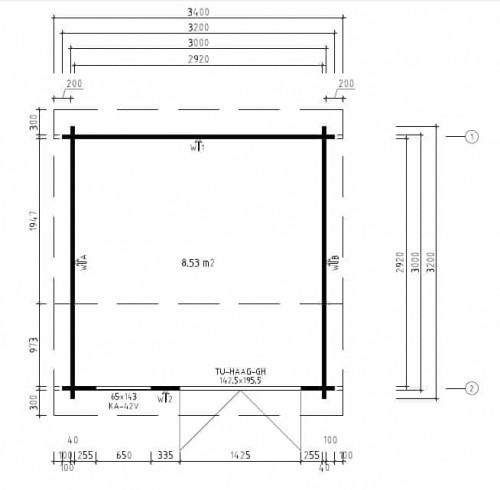 Gartenhaus Nora D plan
