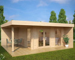 summer house office. Modern Summer House Hansa Lounge XL With Veranda 14,5m² / 44mm 6 X 5 M Office R