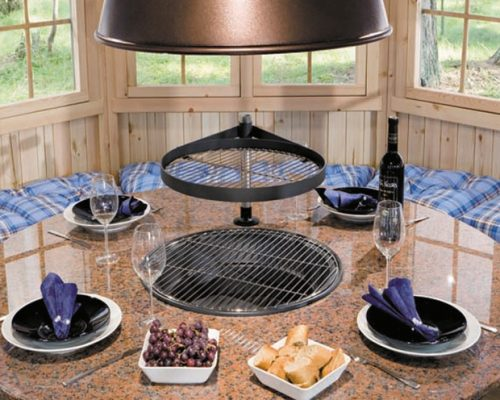Granite Grill Table for BBQ Hut - Summerhouse24.co.uk