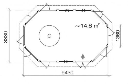Grill Alba XL groundplan