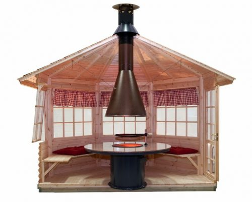 Central Charcoal BBQ Grill and Chimney for all Grillkotas and BBQ huts