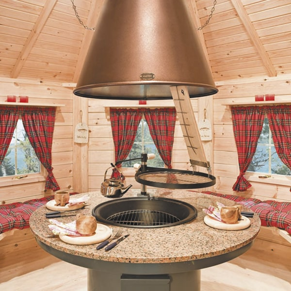 Traditional Lappish Grillkota interior