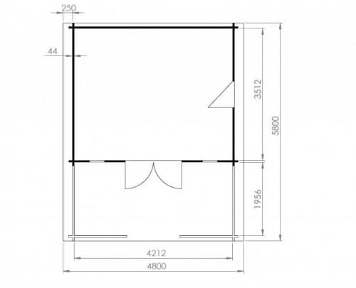 Summerhouse with Veranda Henry ground plan