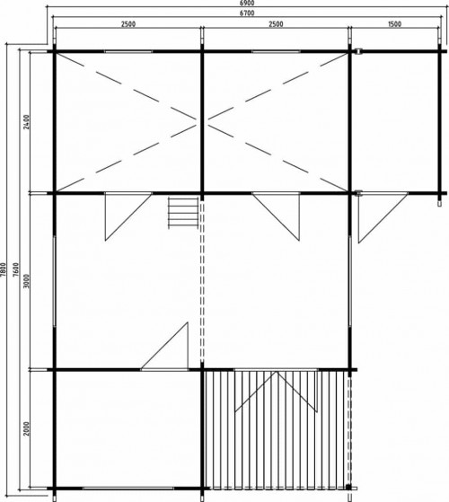 Large Summer House With Shed Ground Plan