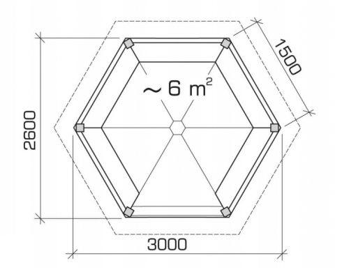 Hexagonal Pavilion Ground Plan
