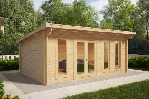 Large Garden Hobby Room Barbados 21m² / 44mm / 5,9 x 4,1 m