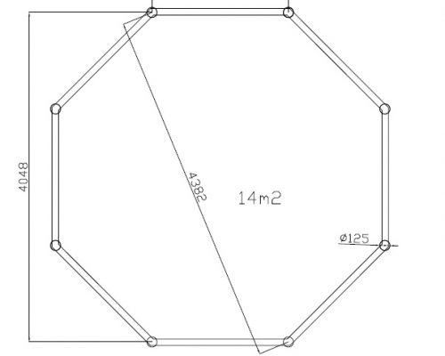 Large Gazebo Canopy Nicole ground plan
