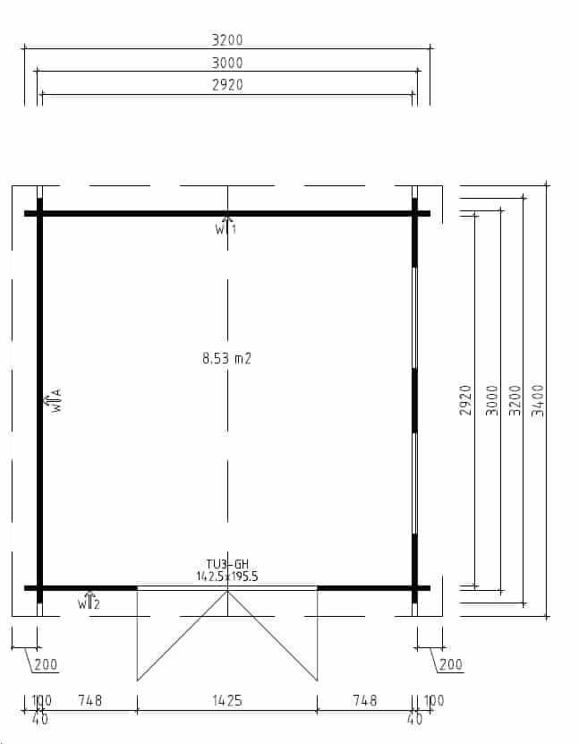 Ground plan Nora B and Lucas B Summer Houses