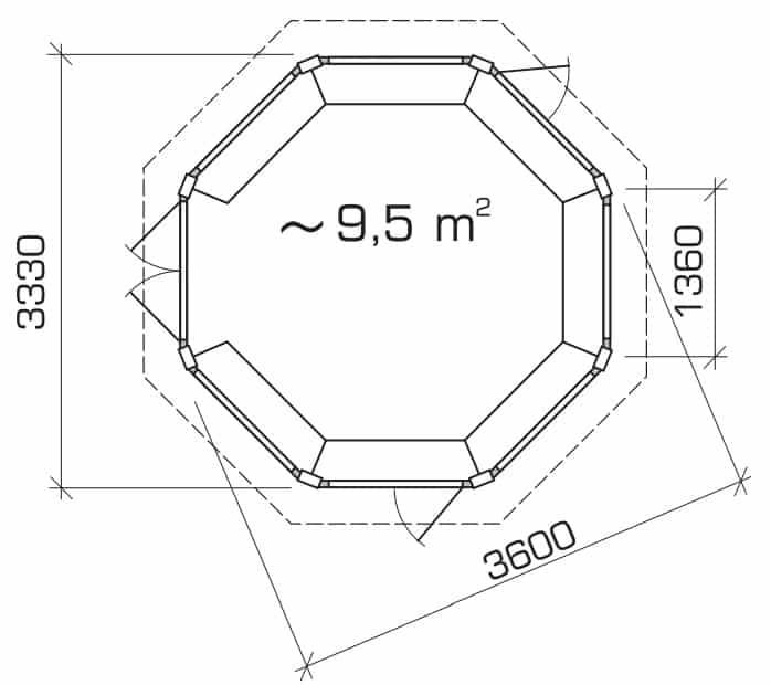 Octagonal BBQ Hut Ground Plan