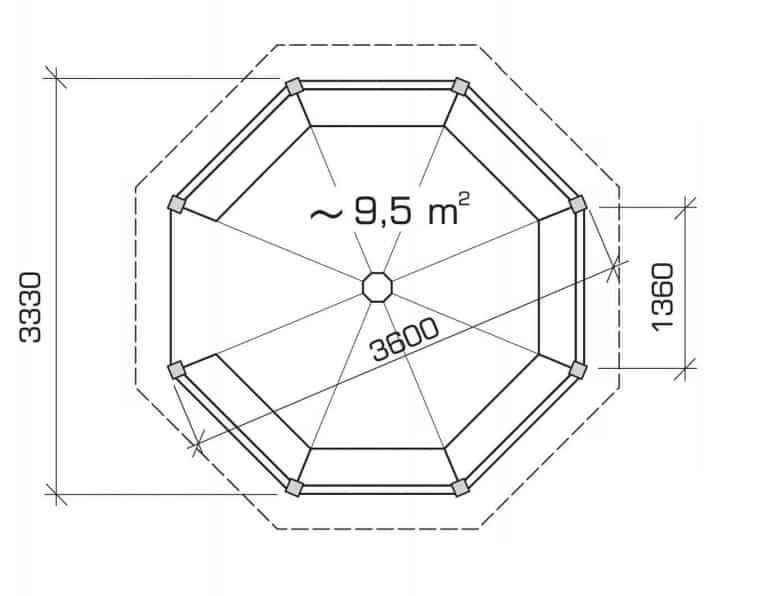 Octagonal Canopy Ground Plan