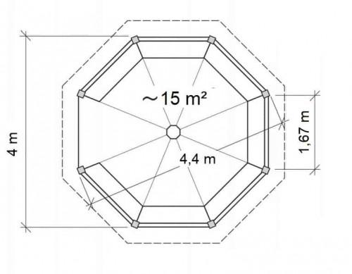 Octagonal Canopy XL Ground Plan