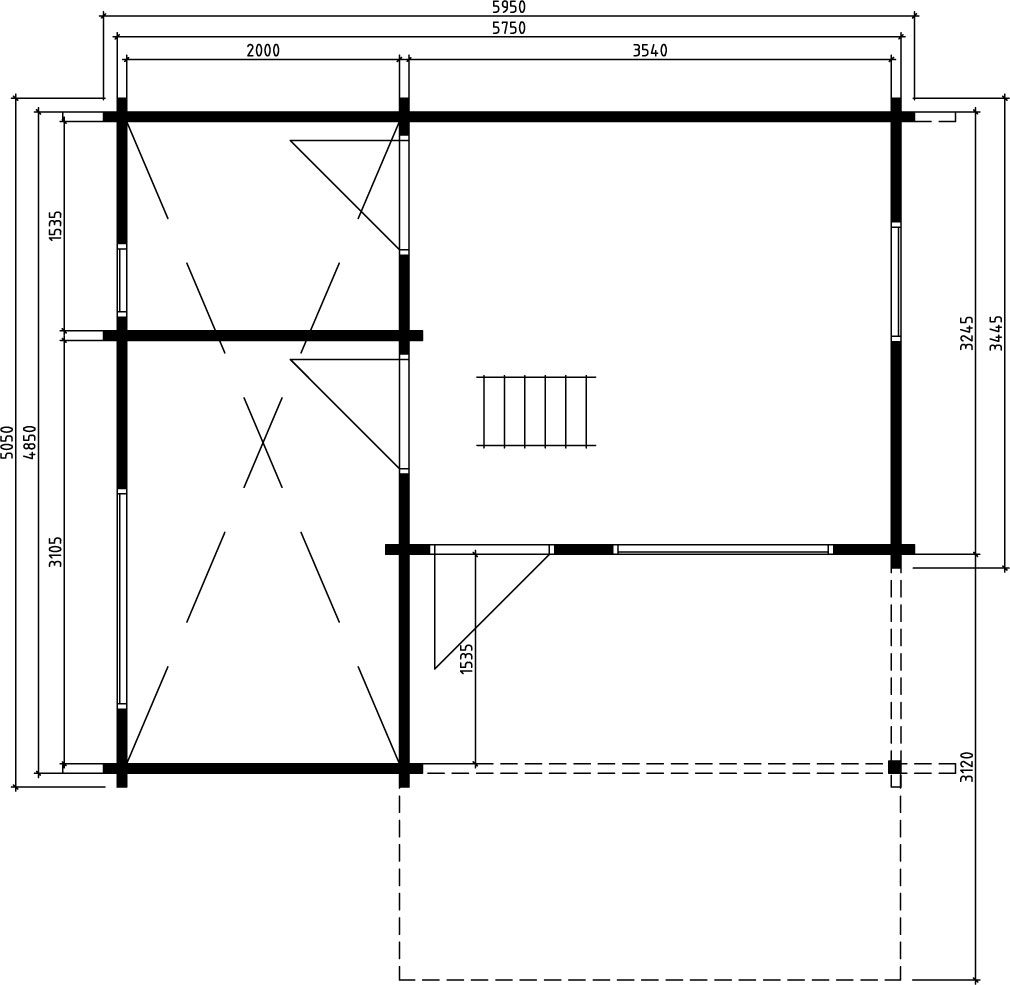 Large Garden Summerhouse Oklahoma Ground Plan