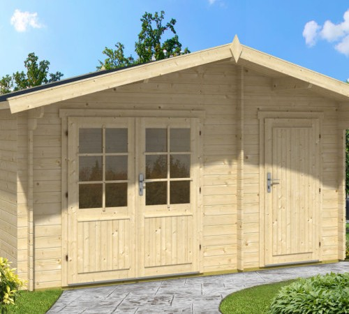Garden summer house with shed otto 10 5m 28mm 4 1 x 3 m summer house 24 - Garden sheds m x m ...