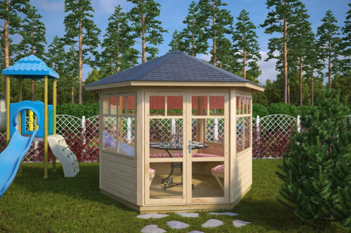 Hexagonal Summerhouse Paradise