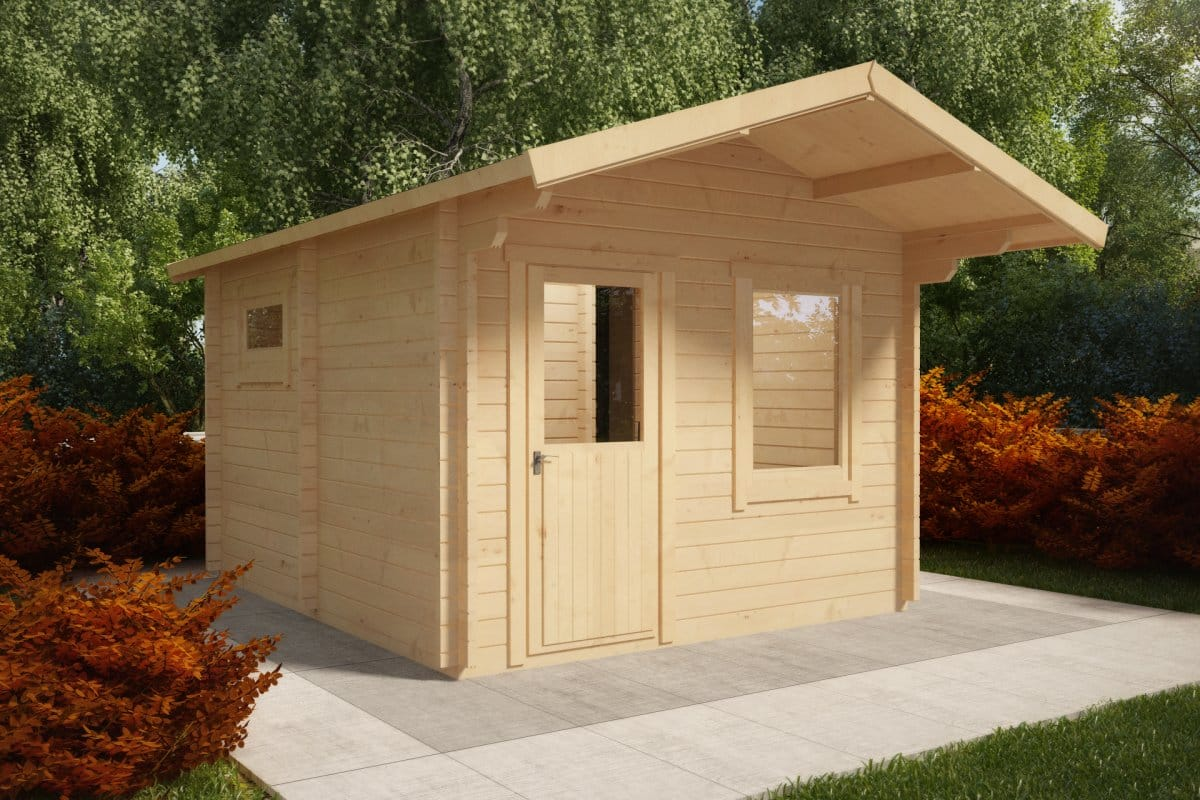 Outdoor Sauna Cabin Oslo 12 5m 178 58mm 3 5 X 4 1 M