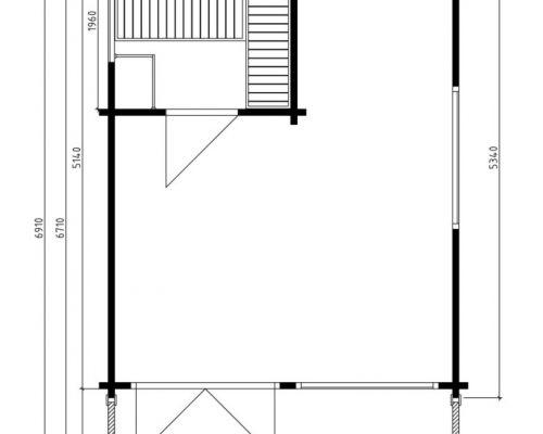 Garden Sauna Cabin Sommerland Ground Plan