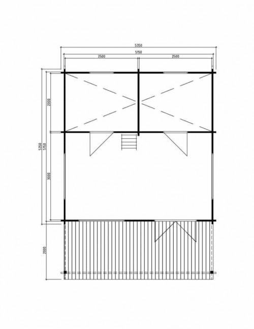Log cabin Stockholm ground plan