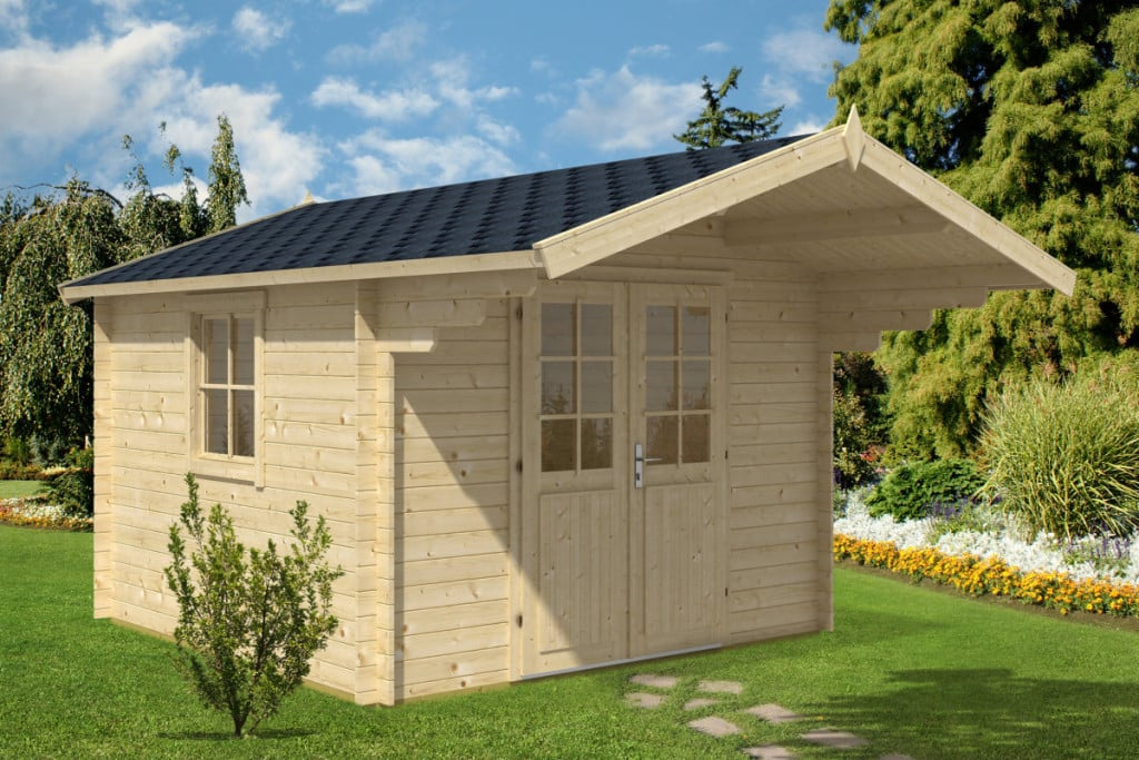 log cabin sunset b 9m 40mm 3 2 x 3 2 m summer house 24. Black Bedroom Furniture Sets. Home Design Ideas