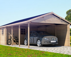Wooden Carport and Tool Shed Emma