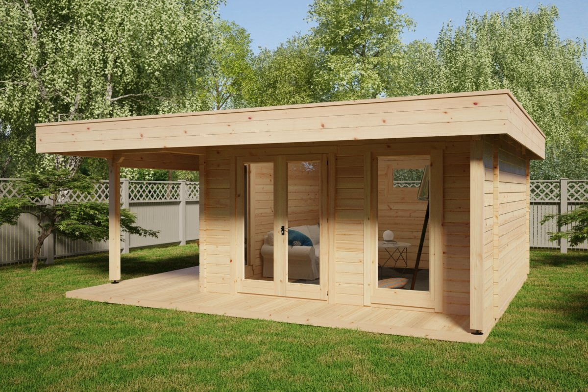 Modern Summer House Hansa Lounge XL with Veranda