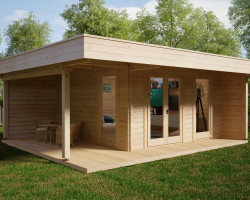Modern Summer House Hansa Lounge XL with Veranda
